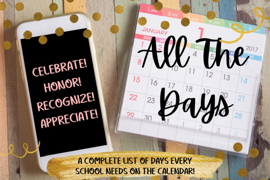 all teh days calender free download